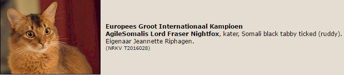 titelregistratie Eur. Kampioen Lord Fraser