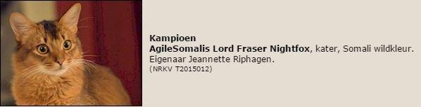 titelregistratie Kampioen Lord Fraser